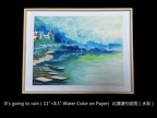 C.Water Color or by knife 水彩或刀刮水彩